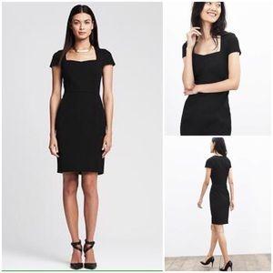 Banana Republic Black Sloan Dress 00P